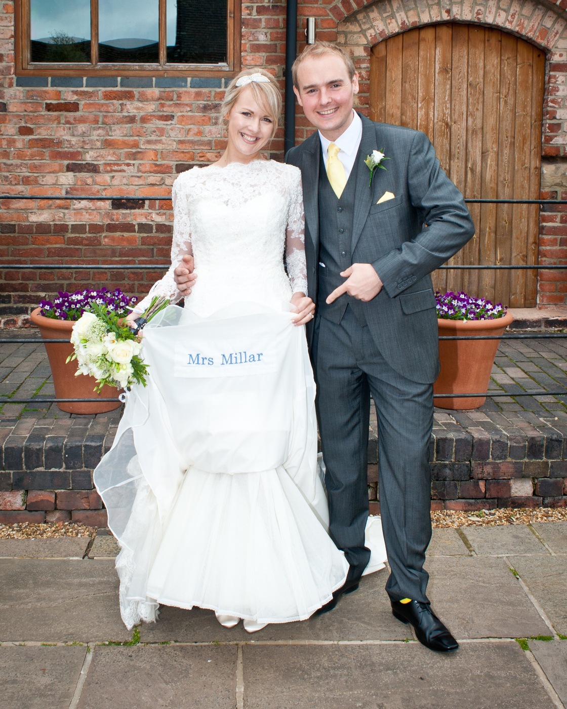 Congratulations Mr & Mrs Millar - 25th May